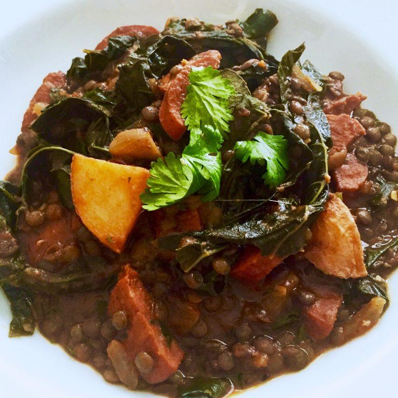 Linguiça and Lentil Stew