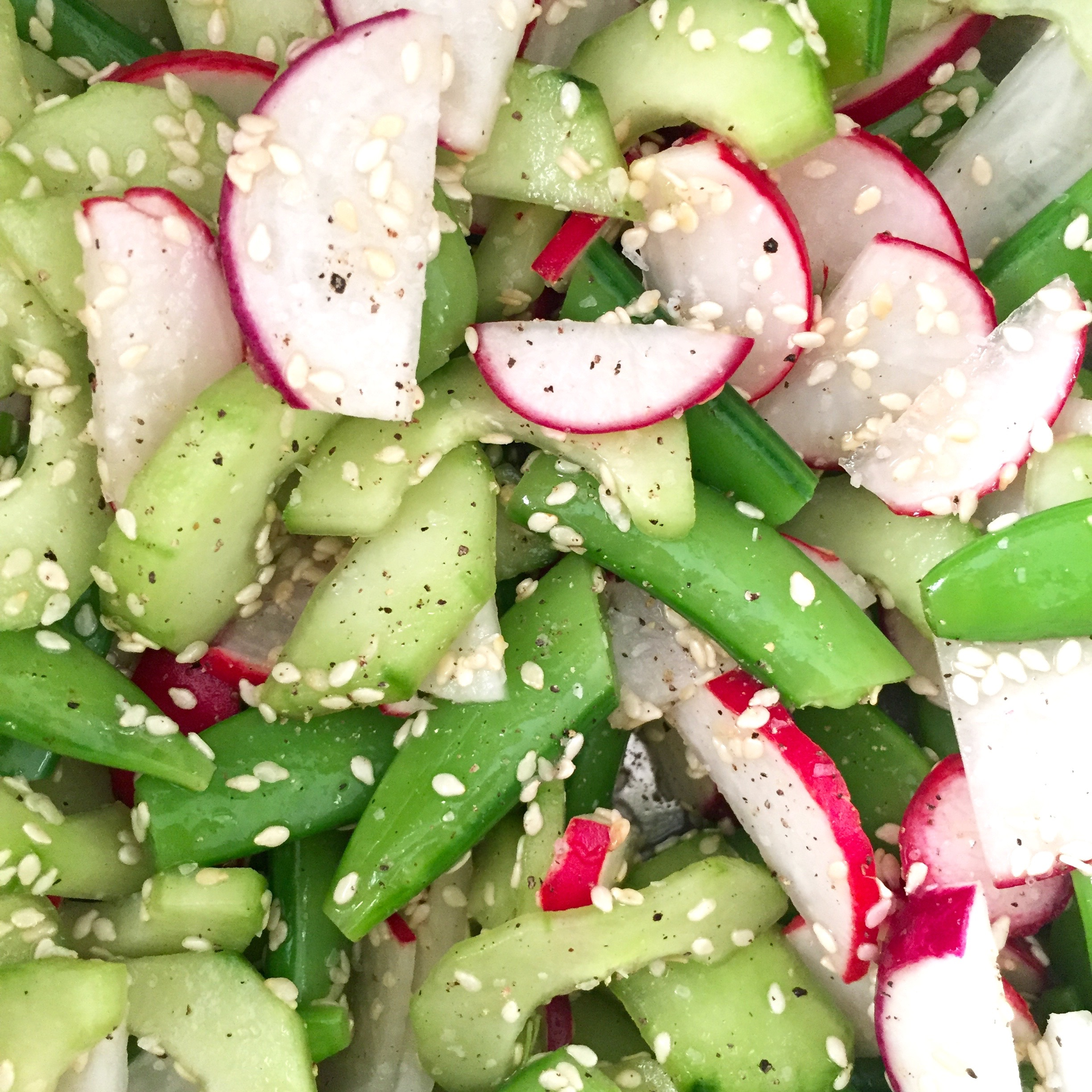 Cucumber, Radish and Snap Pea Salad
