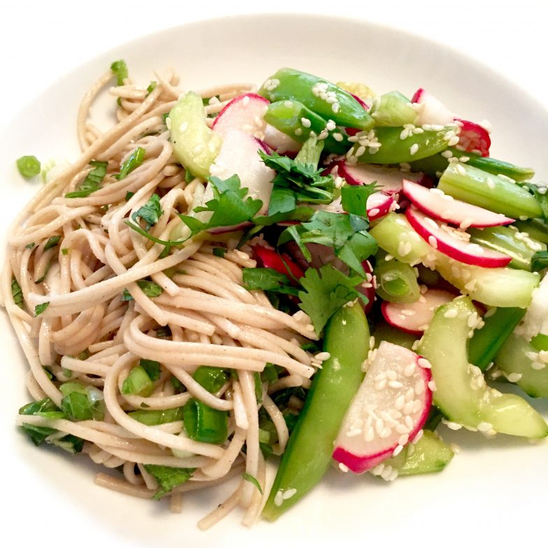 Soba Noodles with Mint, Cilantro & Green Onions