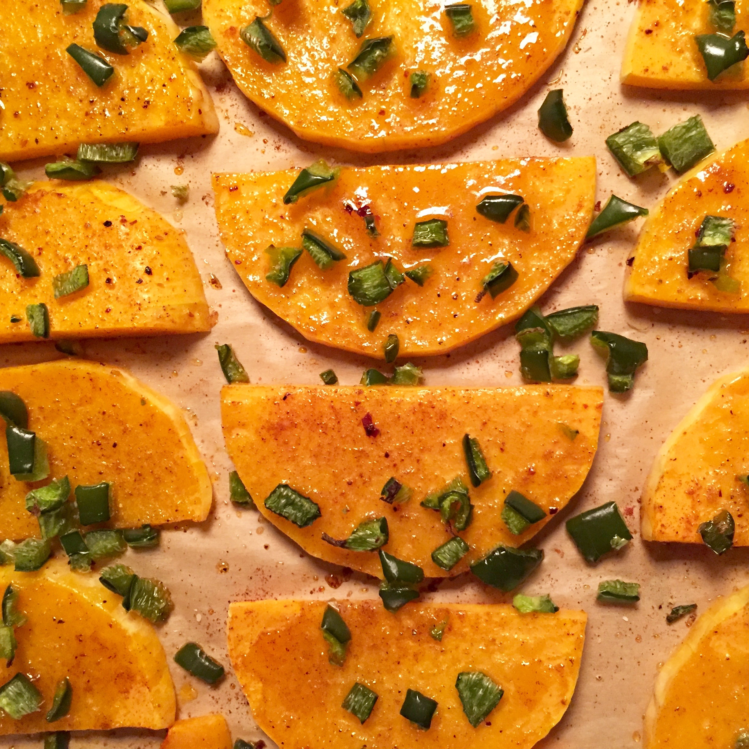 Roasted Butternut Squash with Poblano Pepper
