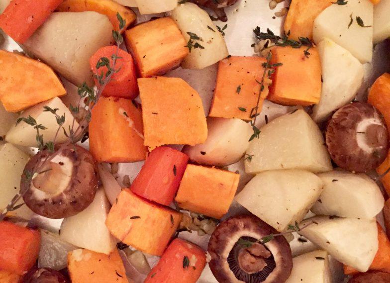 Roasted Winter Vegetables with Crispy Sage