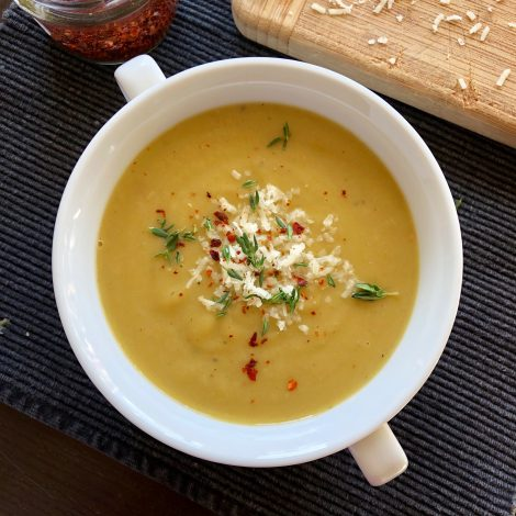 Kohlrabi and Baby Leek Soup