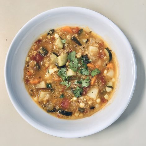Fresh Vegetable Quinoa Soup